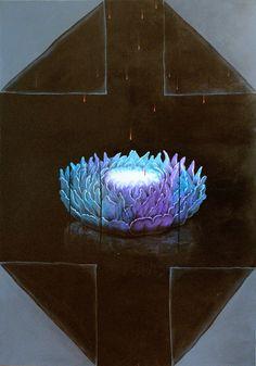 """""""Night of the comet-broken meditation"""" www.kveta-art.com"""