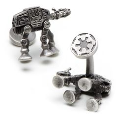 Star Wars 3-D Palladium AT-AT Walker Cufflinks