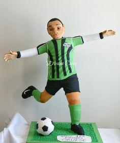 3d Soccer Player Cake