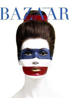 Simone d'Aillencourt photographed by Melvin Sokolsky, Harper's Bazaar, 1960s.