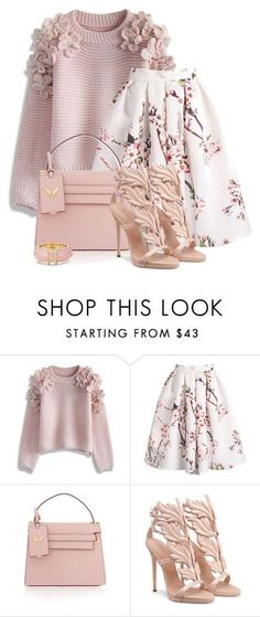 """""""Untitled #5077"""" by barbarapoole ❤ liked on Polyvore featuring Chicwish, Valentino and Kate Spade"""