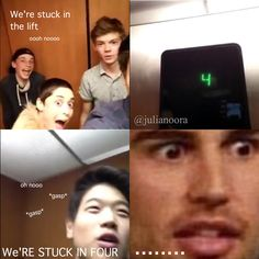TMR cast stuck in a lift :------) #themazerunner #the #maze #runner #funny #four #divergent #stuck #in #a #lift #cast