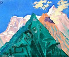 """WILLUMSEN Jens Ferdinand - Preliminary work for """"Naturens Skjolder. Bjergene med de tre farver""""."""