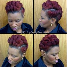 Chunky flat twist updo...so sophisticated