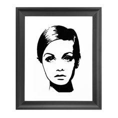 Dot & Bo Face of the Movement Art Print ($14) ❤ liked on Polyvore featuring home, home decor, wall art, decor, black & white wall art, black and white home decor and black and white wall art