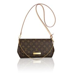 "New Louis Vuitton ""Favorite Clutch"" MM - comes with gold chain strap and leather cross body strap...very roomy - love the magnetic clasp:)"