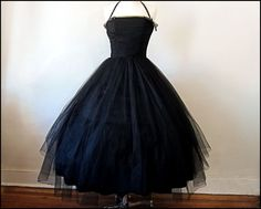 SALE with Coupon Code  Beautiful Black Tulle by FirstLoveLastLove