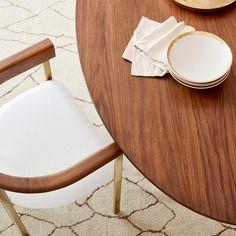 Tulip Dining Armchair | Williams Sonoma Pedestal Dining Table, Dining Arm Chair, Extendable Dining Table, Dining Room, Oval Table, Round Dining Table, Kitchen Tables, Tulip Table, Furniture Sale