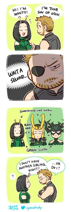 okay i'm not sure if it's just me but loki and hela look more like brother and sister than thor does. is thor the one who's actually adopted? Avengers Humor, Avengers Comics, Heros Comics, Iron Man Avengers, Funny Marvel Memes, Marvel Jokes, The Avengers, Dc Memes, Funny Comics