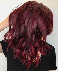 Hair color burgundy hair colors, burgundy balayage, new hair colors, wine. Dark Burgundy Hair Color, Burgundy Balayage, Red Hair Color, Blonde Color, Red Purple, Hair Colors, Shades Of Burgundy, Brown Shades, Best Burgundy Hair Dye