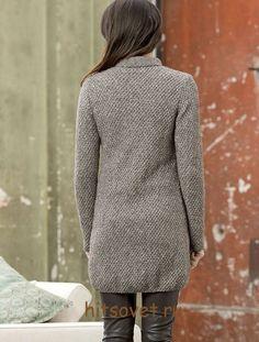 Вязаное пальто спицами для начинающих, фото 2.