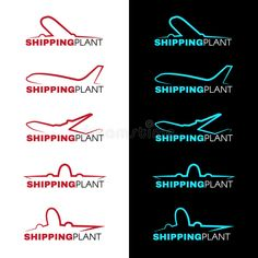 Vector Design, Logo Design, Airplane, Red And Blue, Sky, Illustration, Logos, Dark, Ideas