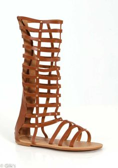 De Blossom Collection Tall Gladiator Sandals in Tan PANTEON-1-TAN