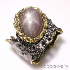 Handmade Fine Art Natural Star Ruby 925 Sterling Silver Ring Size 8.5/R34418 #APBJewelry #Ring