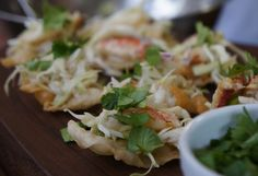 Great Thai Crab Tostada compliments of Chef Brian Streeter of Cakebread Cellars