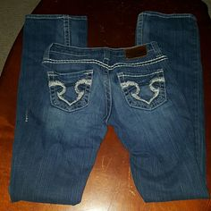 Big Star Bootcut Jeans Medium wash Big Star Bootcut Jeans Style: Sweet Boot Type: Ultra low rise Length: extra Long 99% Cotton 1% Spandex Big Star Jeans Boot Cut