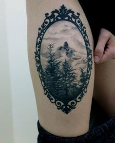 Tattoo Bild Schneegebirge