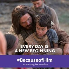 """You can change. You can 'come unto Christ, and be perfected in him.'"" —Russell M. Nelson #BecauseofHim"
