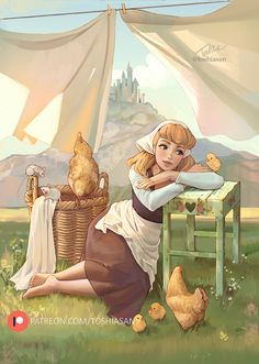 Disney Princesses And Princes, Disney Princess Drawings, Disney Princess Art, Disney Fan Art, Disney Drawings, Arte Disney, Disney Magic, Cinderella Art, Sans Art