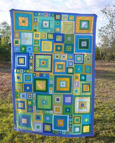 Lots of squares quilt in great colors