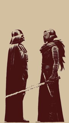 Darth Vader y Kylo Ren