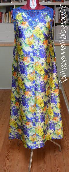 Dress made with precious Como (Italy) silk