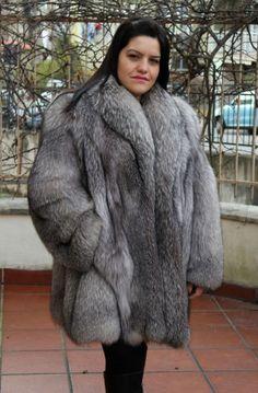 Renard argenté fourrure Silver Fox Fur Coat PELLICCIA Volpe fourrure renard mexa