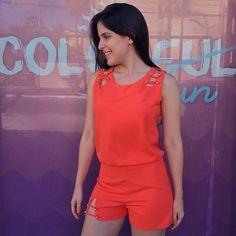 📢📢📢 NEWS IN! Chegou novidade na nossa loja! 👉🏼Conjuntinho Rena super lindo, disponível em duas cores: laranja e preto! 😻 #colorfun #amosayso
