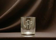 A stunning old fashioned rocks glass set with a monogram is the perfect  gift for for a wedding, anniversary, house warming, or host present.  Please refer to product images for Monogram Style Choices.  13 oz.