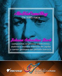 #UnDíaComoHoy 31 de marzo pero de 1685 nace Johann Sebastian Bach, compositor, organista, clavecinista, violinista, violista, maestro de capilla y cantor germano del período barroco.