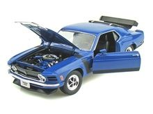www.DiecastAutoWorld.com 2312 W. Magnolia Blvd., Burbank, CA 91506 818-355-5744 AUTOart Bburago Movie Cars Figures First Gear GMP ACME Greenlight Collectibles Highway 61 Die-Cast Jada Toys Kyosho M2 Machines Maisto Mattel Hot Wheels Minichamps Motor City Classics Motor Max Motorcycles New Ray Norev Norscot Planes and Helicopters Police and Fire Semi Trucks Shelby Collectibles Sun Star Tin Signs True Scale Welly Welly 1/18 Scale 1970 Ford Mustang Boss 302 Blue Diecast Car Model 18002