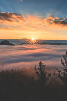 sunrise over a river of fog  by : Iven Eissner