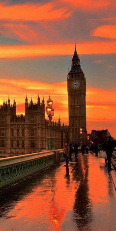 Big Ben under the sun set - beautiful!