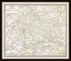 1939 Antique Map - PARIS FRANCE by KnickofTime on Etsy, $11.50