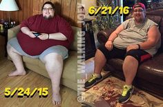 From @the_walking_joey Time for ! These photos are about 13 months apart. I would estimate I was somewhere around 680ish lbs in the first photo. Which would make about a 220 lb loss between the photos. It's pretty crazy to have come so far and still have to be reassured there is a noticeable difference between these 2 as I was hesitant to post this! I realized today looking at my most recent weigh ins I've been stuck for over an entire month now at about 451. It feels so good to finally be…