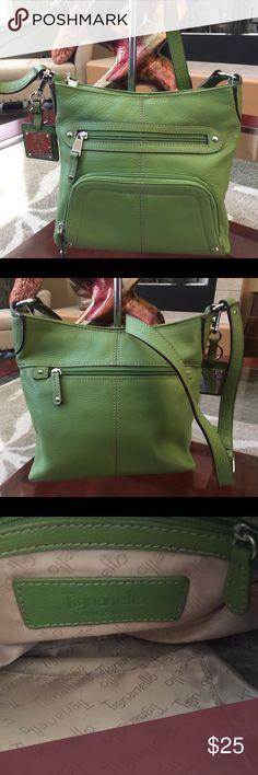 NWOT Tignanello Leather Crossbody Gorgeous vibrant green leather Crossbody by Tignanello. Tignanello Bags Crossbody Bags