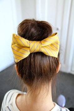 Teased High Bun Hair Bow | Updo Hairstyles | Prom There's a link for a youtube video tute for the tie bow