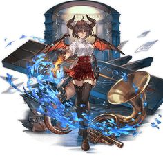 View an image titled 'Grea Artwork' in our Granblue Fantasy art gallery featuring official character designs, concept art, and promo pictures. Anime Fantasy, Fantasy Girl, Female Character Design, Character Concept, Character Art, Chica Anime Manga, Manga Girl, Dnd Characters, Fantasy Characters