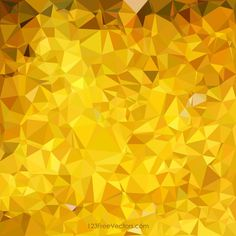 Golden Abstract Low Poly Background Template