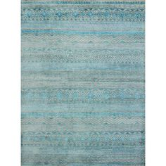 Shop for Hope Ornamental Patterened Blue Hand-knotted Rug (2'x3'). Get free shipping at Overstock.com - Your Online Home Decor Outlet Store! Get 5% in rewards with Club O!