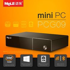 MeLE PCG09 Genuine Windows 10 Intel Quad Core 2G DDR3 32G eMMC 2.5 SATA HDD HDMI Mini PC Sale - Banggood.com