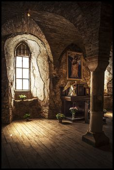 formerly the castle over the village Hřebeny in the municipality of Josefov in the Sokolov District. Beautiful Architecture, Interior Architecture, Interior And Exterior, Lumiere Photo, Medieval Castle, Fantasy Landscape, Fantasy World, Abandoned Places, Aesthetic Pictures