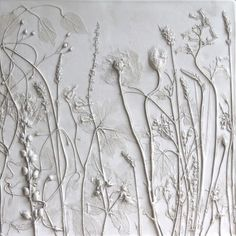 Hannah's tile is made with the flowers from her grandmother's garden. (by Rachel Dein, Tactile Studio, UK)