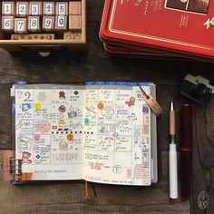 "957 Likes, 19 Comments -  (@thedailyroe) on Instagram: ""February 2017 ✐  Pictured: 1. Passport Traveler's Notebook  2. Traveler's Notebook 2017 Monthly…"""