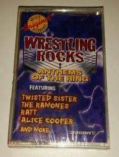 Wrestling Rocks: Anthems from the Ring by Various Artists (Cassette, 1999, Rhin…