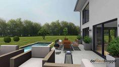 Stadtvilla 224m² | derHausblogger Outdoor Furniture Sets, Outdoor Decor, House Plans, Patio, Home Decor, Civil Engineering, House Design Plans, Home Plans, Villas