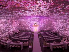 Turn your indoor reception space into an enchanted forest without uprooting a single tree. Image mapping is a projection technology that allows you to transform a space with lighting and moving pictures.