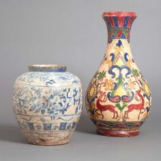 blue white persian jug | PERSIAN blue & white persian pottery | previewing Doyle, from afar ...