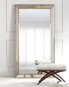 Gold Floor Mirror.