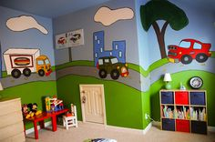 @Living With Lindsay adds a colorful touch to her son's room - via MyColortopia.com
